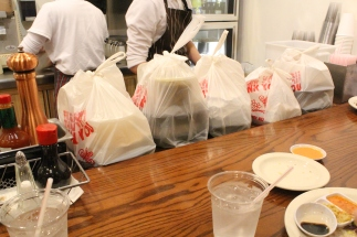 Savoy's to-go orders! So many!