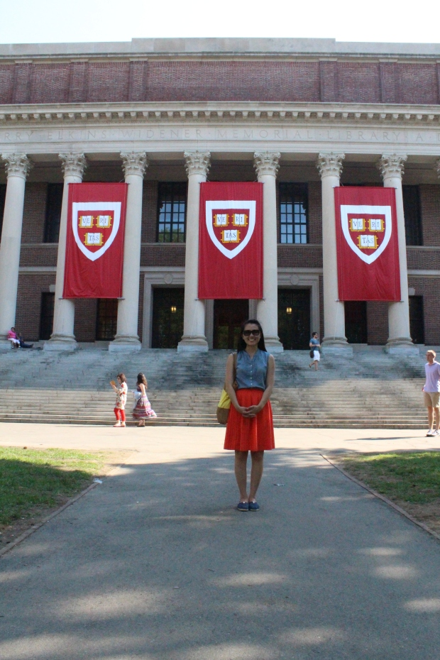 Harvard's Library. You need a student ID card to enter the library!