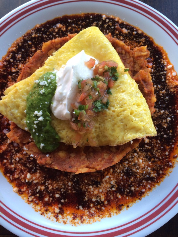 Top view of Anepalco's Chilaquiles