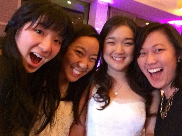 Group selfie with the bride!
