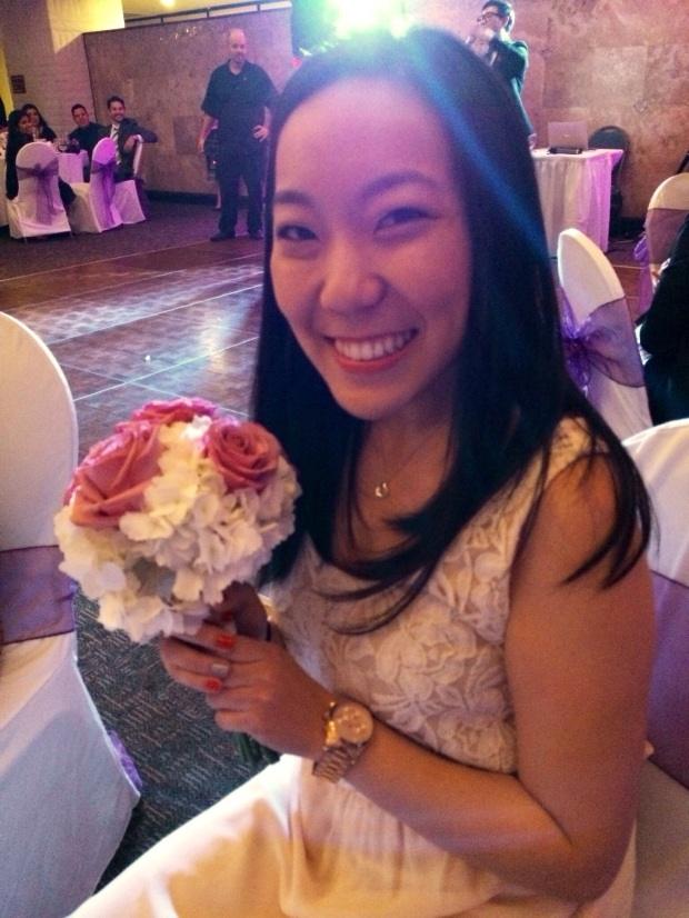 Briana caught the bouquet!